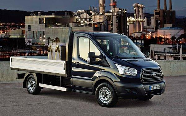 Cheap prices on new Ford Transit Dropside vans with finance leasing deals